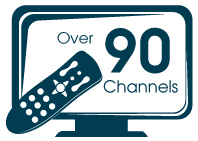 Over 90 Channels